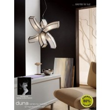 Duna Pendant 6 Light Polished Chrome. (E27 Lamp holder version).