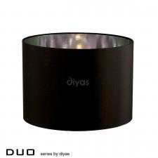 Diyas Duo Small Round Shade 1 Light Black/Chrome