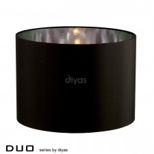 Diyas Duo Medium Round Shade 1 Light Black/Chrome