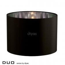 Diyas Duo Medium Round Shade 1 Light Black/Chrome