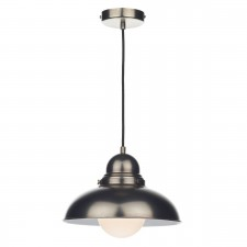 Dynamo 1 Light Pendant Antique Chrome