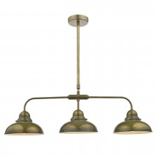 Dynamo 3 Light Bar Pendant Weathered Brass