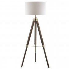 Dar Easel Floor Lamp Natural Wood Effect