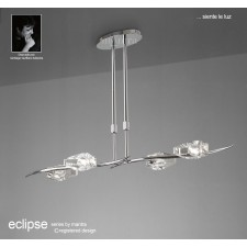 Eclipse Pendant 4 Light Bar Polished Chrome