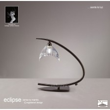 Eclipse Table Lamp 1 Light Black Chrome