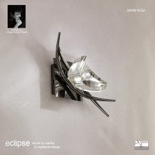 Eclipse Wall Lamp 1 Light Black Chrome Switched