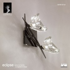 Eclipse Wall Lamp 2 Light Black Chrome Switched