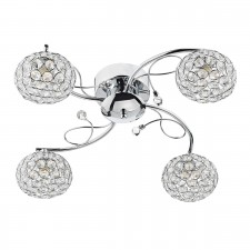 Eden 4 Light Semi Flush Polished Chrome