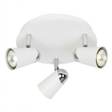 Triple Spotlight Plate -White