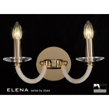 Diyas Elena Wall Lamp 2 Light Gold Plate