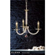 Diyas Elena Pendant 3 Light Gold Plate
