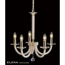 Diyas Elena Pendant 5 Light Gold Plate