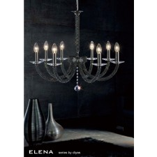 Diyas Elena Pendant 8 Light Black Chrome
