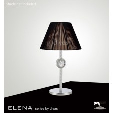 Diyas Elena Table Lamp 1 Light Polished Chrome/Crystal