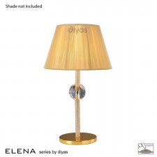Diyas Elena Table Lamp 1 Light Gold Plated/Crystal