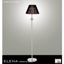 Diyas Elena Floor Lamp 1 Light Polished Chrome/Crystal