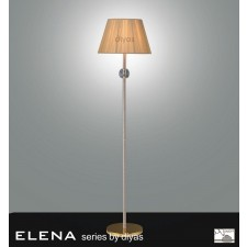 Diyas Elena Floor Lamp 1 Light Gold Plated/Crystal