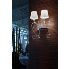 Elisabeth Double Wall Light - 2 Light, Chrome
