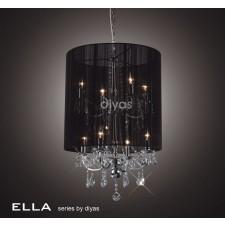 Diyas Ella Pendant 8 Light Polished Chrome/Crystal With Back Shade