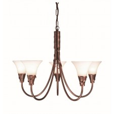 Elstead EM5 COPPER Emily 5 - Light Chandelier Copper