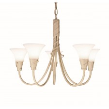 Elstead EM5 IV/GOLD Emily 5 - Light Chandelier Ivory Gold