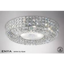 Diyas Enya Flush Ceiling 6 Light Polished Chrome/Crystal