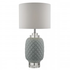 Ervin Table Lamp Pale Blue Ceramic With Glass Base Only
