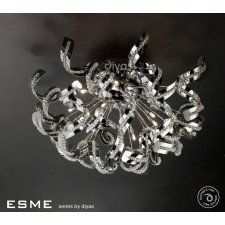 Diyas Esme Ceiling 12 Light Polished Chrome/Crystal