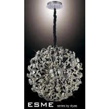 Diyas Esme Pendant 24 Light Polished Chrome/Crystal
