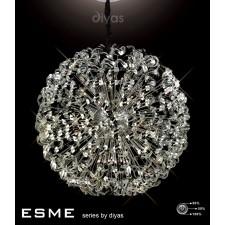 Diyas Esme Pendant 54 Light Polished Chrome/Crystal