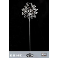 Diyas Esme Floor Lamp 12 Light Polished Chrome/Crystal