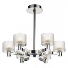 Eton 6 Light Semi Flush Polished Chrome/ Satin Chrome
