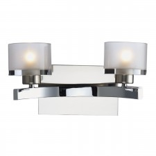 Eton Double Wall Bracket Polished Chrome/ Satin Chrome