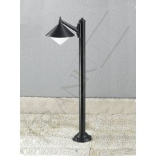 Franklite Sera Exterior Half-Post - Matt Black, Cast Aluminium, IP43