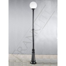 Franklite Rotonda Exterior Lamp-Post - Matt Black, Cast Aluminium, IP43