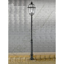 Franklite Nerezza Exterior Lamp-Post - Die-Cast Aluminium, Dark Grey
