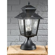Franklite Giardino Exterior Pedestal Light - Die-Cast Aluminium, Dark Grey