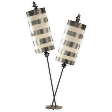 Flambeau FB/NETTLELUXS/TL Nettle Luxe Silver Table Lamp