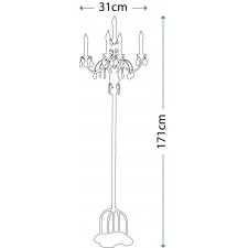 Feiss FE/ANORA FL Anora 5 - Light Floor Lamp