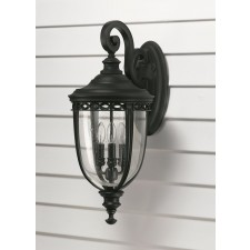 Feiss FE/EB2/L BLK English Bridle 3 - Light Large Wall Lantern Black