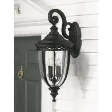 Feiss FE/EB2/XL BLK English Bridle 4 - Light X Large Wall Lantern Black