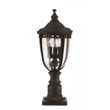 Feiss FE/EB3/M BLK English Bridle 3 - Light Medium Pedestal Black