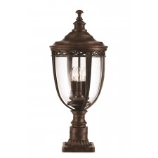 Feiss FE/EB3/M BRB English Bridle 3 - Light Medium Pedestal British Bronze