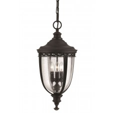 Feiss FE/EB8/L BLK English Bridle 3 - Light Large Chain Lantern Black