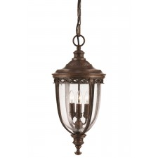 Feiss FE/EB8/L BRB English Bridle 3 - Light Large Chain Lantern British Bronze