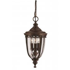 Feiss FE/EB8/M BRB English Bridle 3 - Light Medium Chain Lantern British Bronze