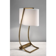 Feiss FE/LEX TL BB Lex Table Lamp Bali Brass
