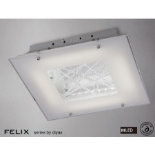 Diyas Felix Ceiling LED 3600K 32X0.5W Polished Chrome/Crystal