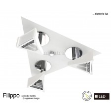 Filippo Spot Light 3 Light LED Triangular Plate 5W White/Chrome 3000K