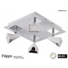 Filippo Spot Light 4 Light LED Square 20W White/Chrome 3000K